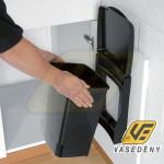 BUILT IN BIN ajtóra szerelhető szemetes 10l, fekete