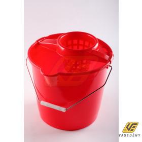 Plastor Trading 37102 Fém füles kerek vödör csavaróval 10 liter