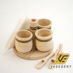 BestOn 00079 Asztali fűszertartó 4 részes, kiskanállal, szalvétatartóval
