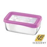 Bormioli Frigo Fun 119823 téglalap alakú ételtároló doboz fuchsia Kifutó termék!