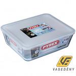 Pyrex 203232  Téglalap alakú sütőtál műanyag tetővel 4 liter Cook and Freeze