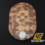 Parawood 210092 Fa vágódeszka porcelán tálkával 28x40x3,5 cm