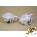 Kerámia teakészlet 285536 1 személyes levendulás