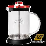 Berlinger Haus Kávé és tea készítő üveg 350ml Bugundy Edition BH1496