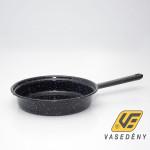 Zománcozott nyeles szeletsütő spriccelt 23cm fekete