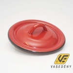 Zománcozott fedő 16cm piros