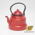 Zománcozott teáskanna piros 3 liter