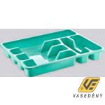 Evőeszköztartó, műanyag, 33x26 cm, színes, ER28