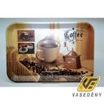 Tálca, 39,5x29 cm Melamin tálca, kávés M40264