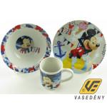 Disney Gyerek étkészlet, porcelán, 3 részes, Mickey, 263001