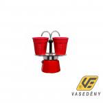 Bialetti  Kávéfőző  szett, 2 személyes, piros, Mini Express, 7303