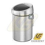TOUCH BIN patentos szemetes 0.3l, matt steel FPP