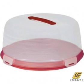 Curver 00416-472-00 Kerek tortabúra 35 cm átlátszó-bordó