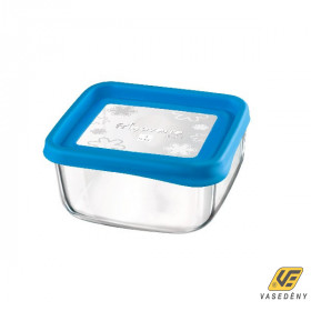 Bormioli Rocco Ételtároló doboz, üveg, 15 cm, szögletes, Frigo Fun, 119799