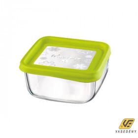 Bormioli Rocco Ételtároló doboz, üveg, 15 cm, szögletes, Frigo Fun, 119803
