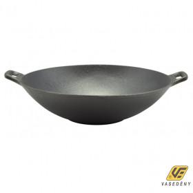 Perfect Home 12137 Öntöttvas wok natúr fekete 31 cm