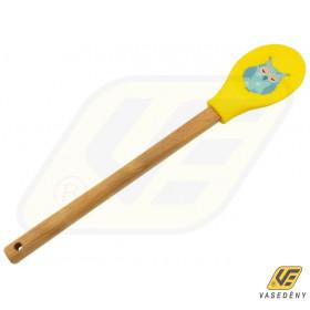 Perfect Home 12524 Bambusz szilikon kanál baglyos kék