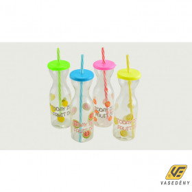 Perfect Home 12999 Műanyag italos pohár szívószállal