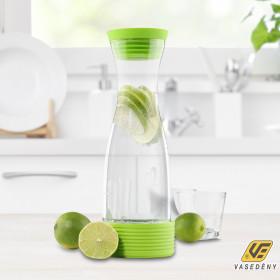 Hi Üveg vizes palack, szilikon tetővel, 1,25 liter 13082
