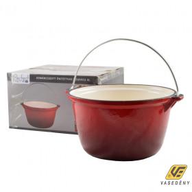 Perfect Home 13252 Zománcozott öntöttvas bogrács 4 literes piros