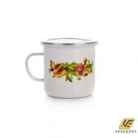 Banquet 13RMVEG02 Zománcozott bögre műanyag tetővel 0,7 liter Zöldség