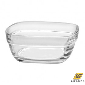 Duralex Salátás tál, üveg, 20 cm, szögletes, Lys, 201032