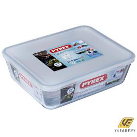 Pyrex 203231 Téglalap alakú sütőtál műanyag tetővel 2,6 liter Cook and Freeze