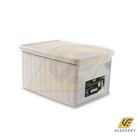 ELEGANCE 20401 tároló doboz fehér 15 literes Kifutó termék!