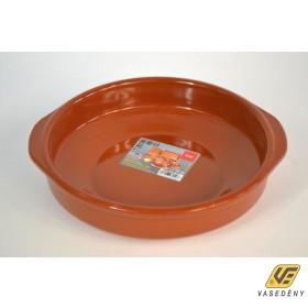 Cok 225414 Ovális kerámia sütőtál mázas 26x6 cm