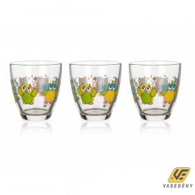 Banquet 331054209 Gyerek üveg pohár szett 3 részes 210ml Bagoly