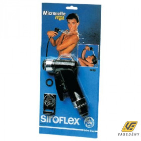 Siroflex Zuhanyfej, pisztolyos, fekete, 2040