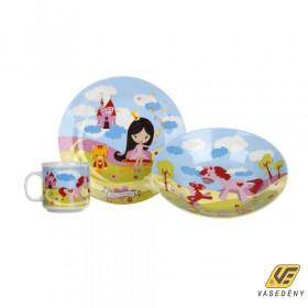 Banquet 60YDDS03J Gyerek étkészlet 3 részes Little Princess