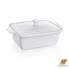 Banquet 60ZF09 Szögletes kerámia sütőtál fedővel 28x18cm Culinaria