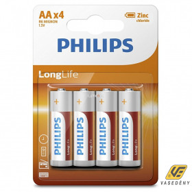 Philips PH-LL-AA-B4 LongLife AA elem 4db