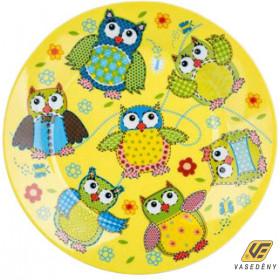 Banquet 60301004 Kerámia desszert tányér 20cm Bagoly