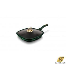 Berlinger Haus Grill serpenyő fedővel 28 cm , 3 rétegű titán bevonat, Emerald Collection BH6051