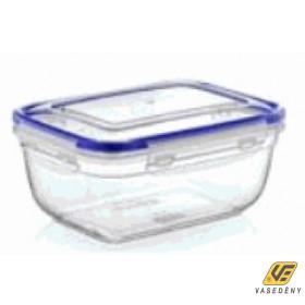 Ételtároló doboz, műanyag, 1400 ml, csatos, DÜ42