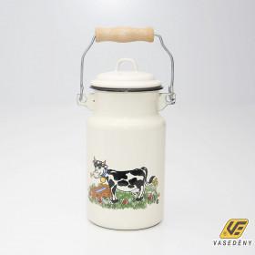 Zománcozott tejeskanna bocis 1 liter