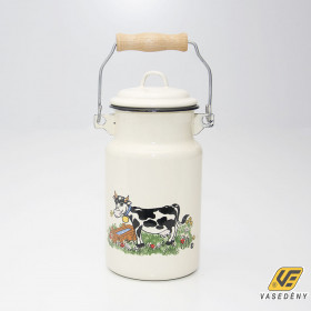 Zománcozott tejeskanna bocis 2 liter