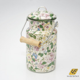 Zománcozott tejeskanna virágos 1 liter