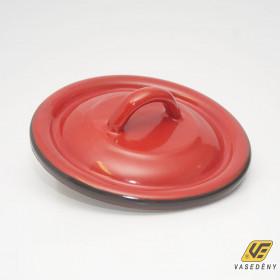 Zománcozott fedő 28cm piros