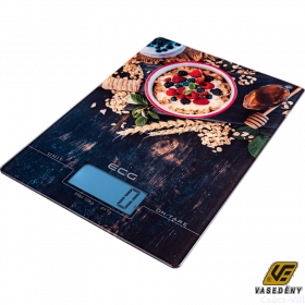 ECG KV 1021 Üveglapos konyhamérleg digitális LCD kijelzős 10 kg