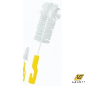 Cumisüvegmosó kefe, műanyag, sárga, LA19