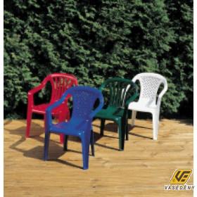 Gyermek szék, műanyag, 38x38x52 cm, színes, O11