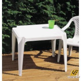 Gyermek asztal, műanyag, 56x52x44 cm, fehér, O13