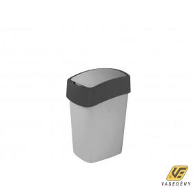 Curver 02170-686-00 Pacific Flip Bin Billenő fedeles szemetes 10L ezüst-grafit