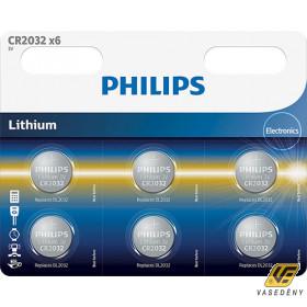 Philips PH-CR2032-B6  Lithium CR2032 3V  1db