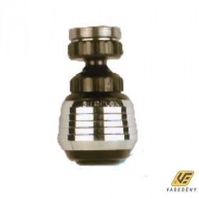 Siroflex Csapszűrő, krómozott, gömbcsuklós, menetes, fekete, 2785