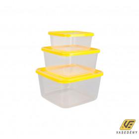 Plastor Trading R3-91026GAL Ételtároló doboz szett 3 részes