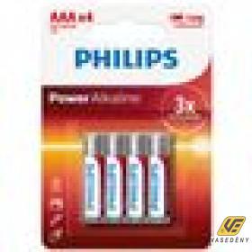 Philips PH-PA-AAA-B4  Power Alkaline AAA 4db